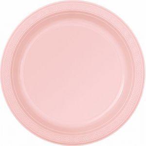 Platos rosa pastel 23 cm (8 unid)