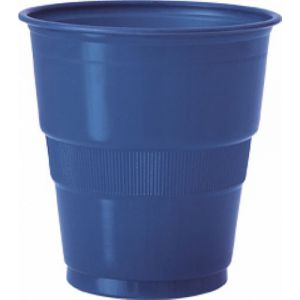 Vaso grande azul marino (12 unid.)