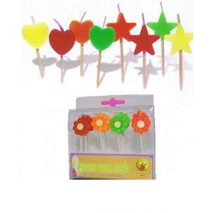 Pincho velas neon (pack 12 uds)