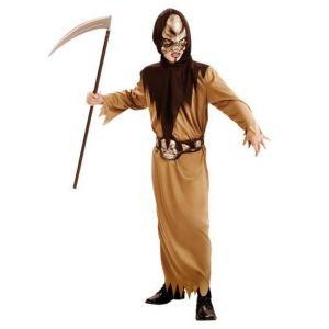 Disfraz guerrero calavera niño