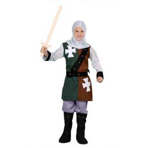 Disfraz caballero medieval verde niño
