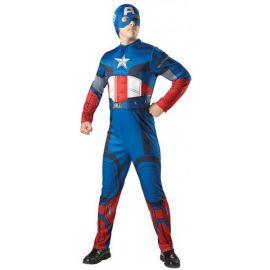 Disfraz capitan america musculoso adulto