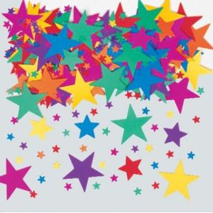 Confetti estrellas colores