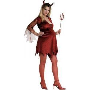 Disfraz diablesa pre-mamá