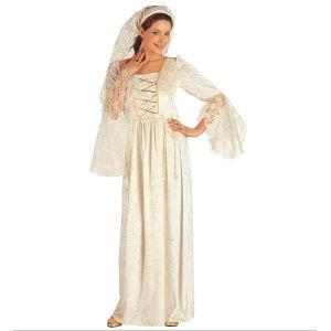 Disfraz dama medieval blanca adulto