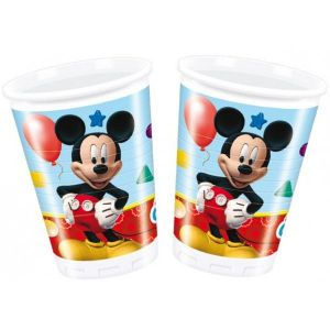 Vasos mickey club house (8 unid)