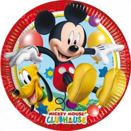 Platos mickey club house (8 unid)