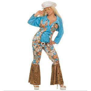 Disfraz hippie chica xl