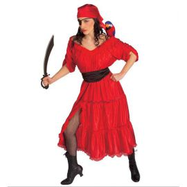 Disfraz piratesa roja adulto