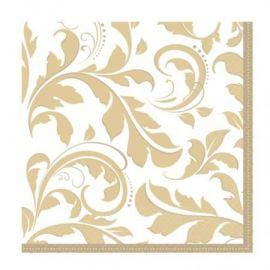 Servilletas gold elegance (16 unid)