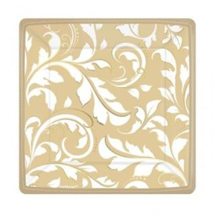 Platos gold elegance 17,7 cm (8 unid)