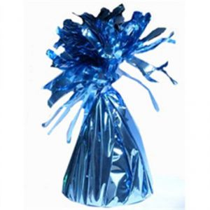 Peso saquito azul iridiscente