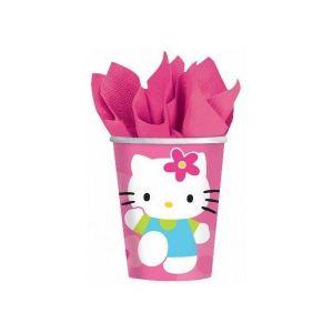 Vasos hello kitty flor