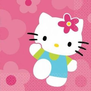 Servilletas hello kitty flor