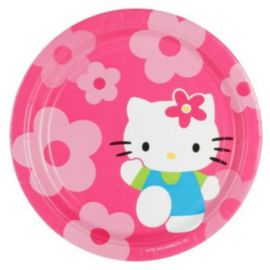Platos hello kitty flor