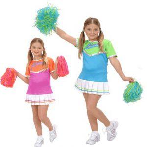 Disfraz animadora cheer leader niñas de 5 a 13 años