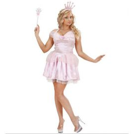 Disfraz princesa rosa mujer adulto