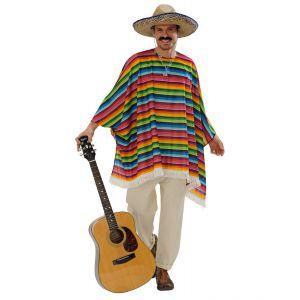 Poncho mejicano con sombrero