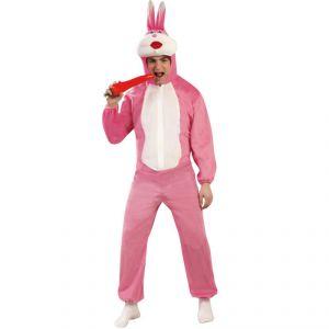 Disfraz conejo rosa adulto