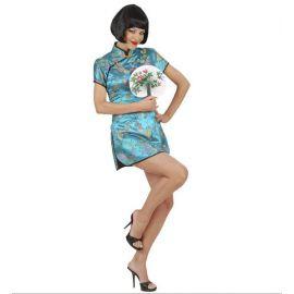 Disfraz geisha vestido mujer adulto