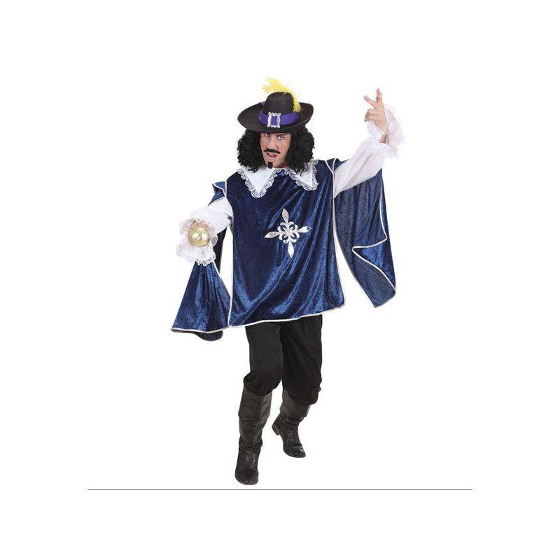 Disfraz mosquetero deluxe azul hombre - Disfraz casero mosquetero ...