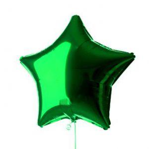 Globo helio estrella verde
