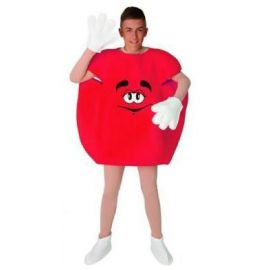 Disfraz caramelo rojo adulto