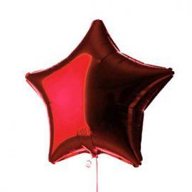 Globo helio estrella rojo