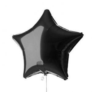 Globo helio estrella negro