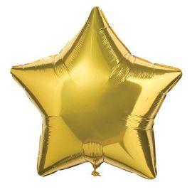 Globo helio estrella dorada