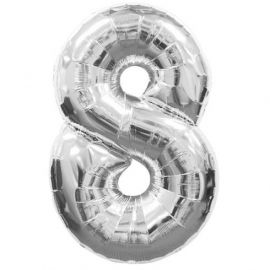 Globo helio n? 8 plata