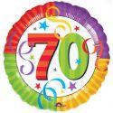 Globo helio 70 años