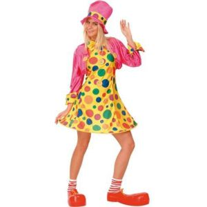 Disfraz payaso adulto chica con aro