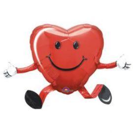 Globo helio corazón andante