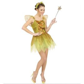 Disfraz hada deluxe dorado adulto mujer