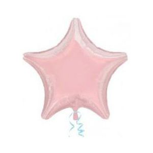 Globo helio estrella rosa pastel