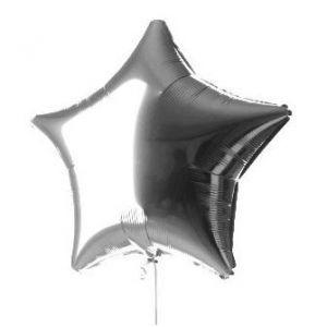 Globo helio estrella plata