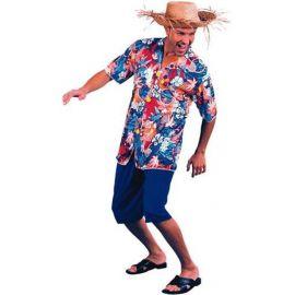 Disfraz hawaiano con sombrero