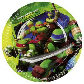 Platos tortugas ninja 23cm 8 und