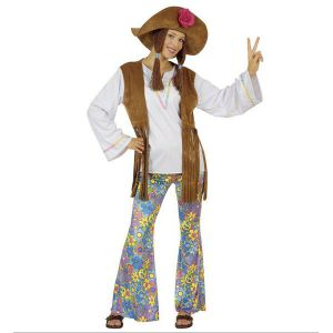 Disfraz hippie mujer Woodstock