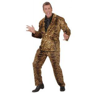 Disfraz pop star piel de leopardo adulto