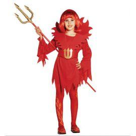 Disfraz de diablesa para niñas de 5 a 13 años