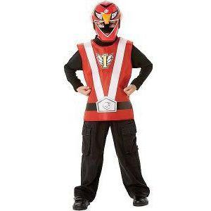 Disfraz power ranger rojo blister