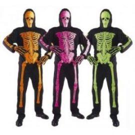 Disfraz esqueleto neon infantil