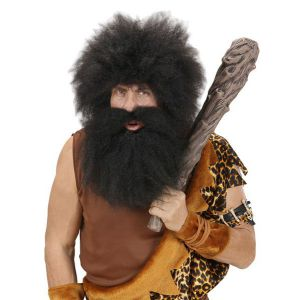 Barba negra extra grande con bigote