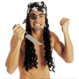 Peluca pirata con parche y pañuelo