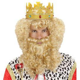 Peluca rey con barba