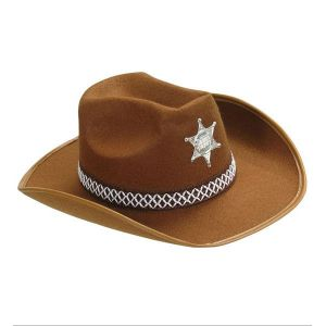 Sombrero vaquero niño marron
