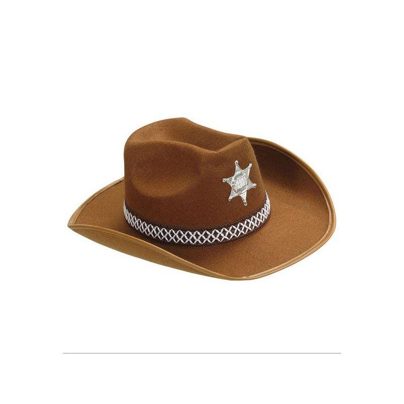 Sombrero vaquero ni o marron - Decoracion de sombreros ...