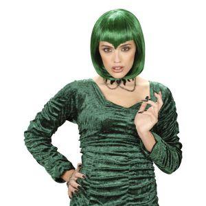 Peluca vampiresa gótica verde